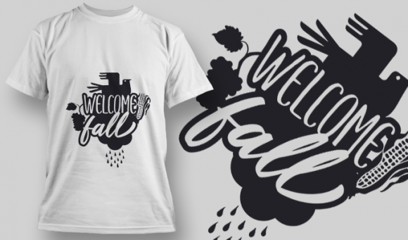 2166 Welcome Fall 2 SVG Quote T-shirt Designs and Templates vector