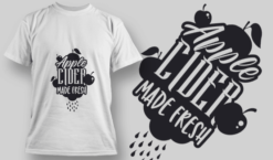 2168 Apple Cider Made Fresh SVG Quote T-shirt designs and templates vector
