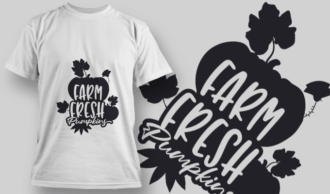 2173 Farm Fresh Pumpkins SVG Quote T-shirt Designs and Templates leaf