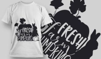 2174 Fresh Farm Pumpkins SVG Quote T-shirt Designs and Templates leaf