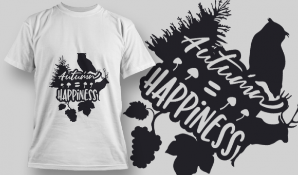 2176 Autumn Happiness 1 SVG Quote 2176 Autumn Happiness 1