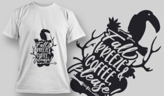 2178 Fall Breeze and Coffee Please SVG Quote T-shirt Designs and Templates vector