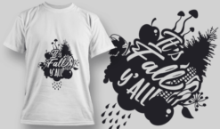 2182 It's Fall Y'all SVG Quote T-shirt designs and templates tree