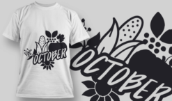 2199 October SVG Quote T-shirt designs and templates vector