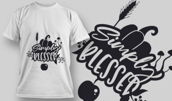 2208 Simply Blessed SVG Quote T-shirt Designs and Templates vector