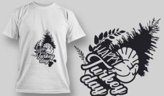 2209 Happy Turkey Day 2 SVG Quote T-shirt Designs and Templates tree