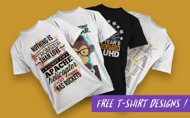 The Free Vector T-shirt Designs Mega Set free vector t shirt designs mega set