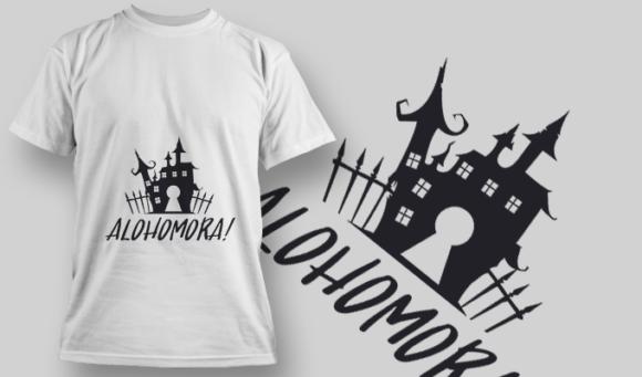 2213 Alohomora Typography T-shirt Designs and Templates vector