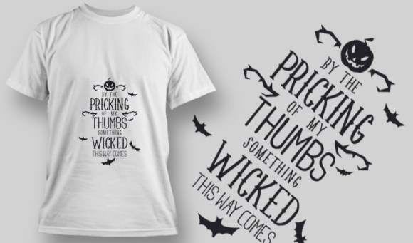 2215 By The Picking Of My Thumb T-Shirt Design T-shirt Designs and Templates vector