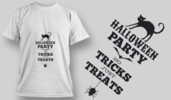 2221 Halloween Party 1 T-Shirt Design T-shirt designs and templates vector