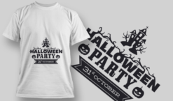 2222 Halloween Party 2 T-Shirt Design T-shirt designs and templates vector
