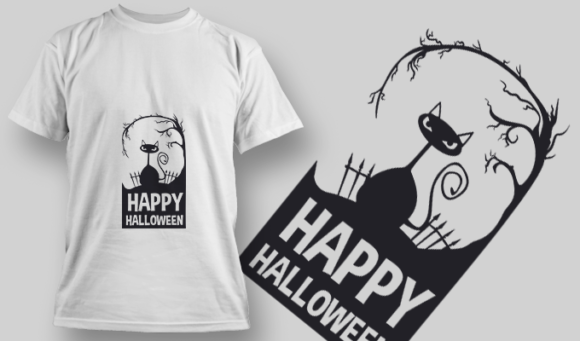 2223 Happy Halloween T-Shirt Design T-shirt Designs and Templates vector