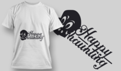 2224 Happy Haunting T-Shirt Design T-shirt designs and templates vector
