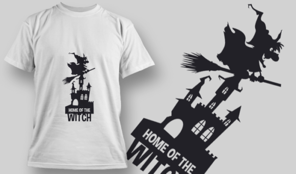 2226 Home Of The Witch 1 T-Shirt Design T-shirt Designs and Templates vector