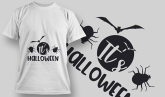 2231 It'S Halloween T-Shirt Design T-shirt Designs and Templates vector