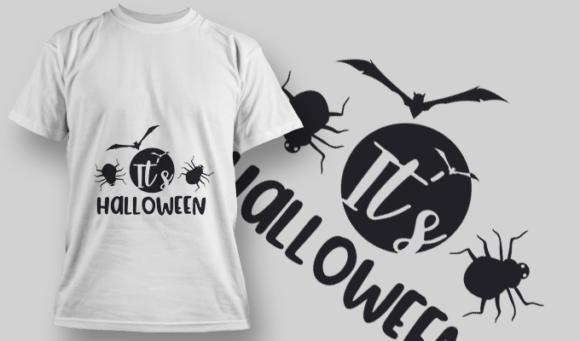 2231 It'S Halloween T-Shirt Design T-shirt Designs and Templates vector