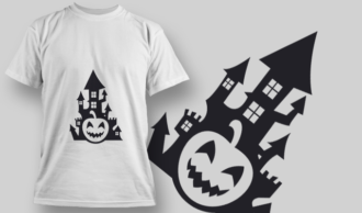 2236 Pumpkin Castle T-Shirt Design T-shirt Designs and Templates vector