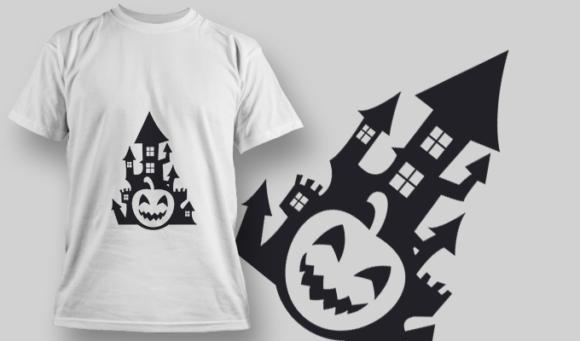 2236 Pumpkin Castle T-Shirt Design T-shirt Designs and Templates vector