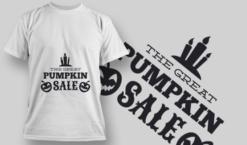 2237 The Great Pumpkin Sale T-Shirt Design T-shirt designs and templates vector