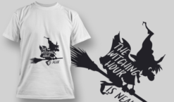 2238 The Witching Hour T-Shirt Design T-shirt designs and templates vector