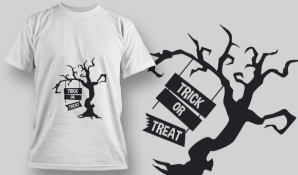 2239 Trick Or Treat 1 T-Shirt Design T-shirt Designs and Templates tree