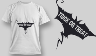 2240 Trick Or Treat 2 T-Shirt Design T-shirt Designs and Templates vector