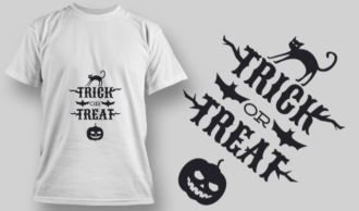 2242 Trick Or Treat 4 T-Shirt Design T-shirt Designs and Templates vector