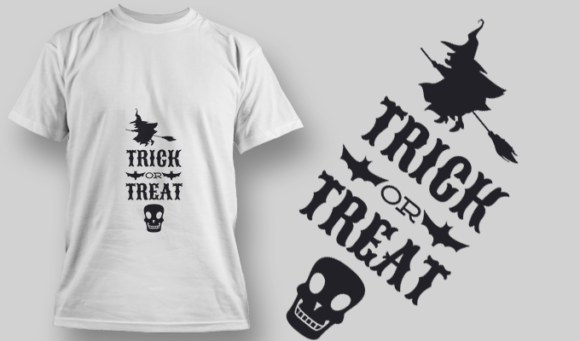 2243 Trick Or Treat 5 T-Shirt Design T-shirt Designs and Templates vector