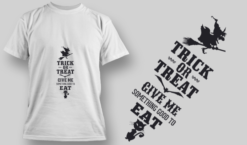 2244 Trick Or Treat 6 T-Shirt Design T-shirt designs and templates vector