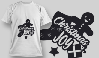 2251 Christmas Joy T-Shirt Design T-shirt Designs and Templates vector