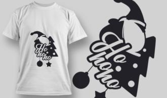 2257 Ho Ho Ho T-Shirt Design T-shirt Designs and Templates tree