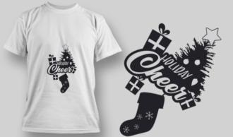 2258 Holiday Cheer T-Shirt Design T-shirt Designs and Templates vector