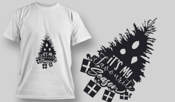 2263 It'S My Favourite Season T-Shirt Design T-shirt Designs and Templates tree