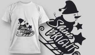 2285 Shine Bright 2 T-Shirt Design T-shirt Designs and Templates star
