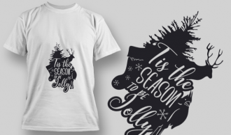 2290 Tis The Season 2 T-Shirt Design T-shirt Designs and Templates tree