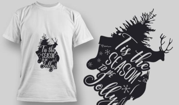 2290 Tis The Season 2 T-Shirt Design T-shirt Designs and Templates tree