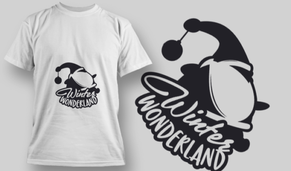 2293 Winter Wonderland 2 T-Shirt Design T-shirt Designs and Templates vector