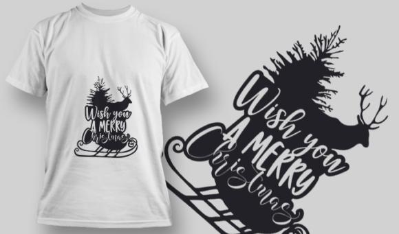 2295 Wish You A Merry Christmas T-Shirt Design 2295 Wish You a Merry Christmas