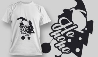 2296 Ho Ho Ho T-Shirt Design T-shirt Designs and Templates star