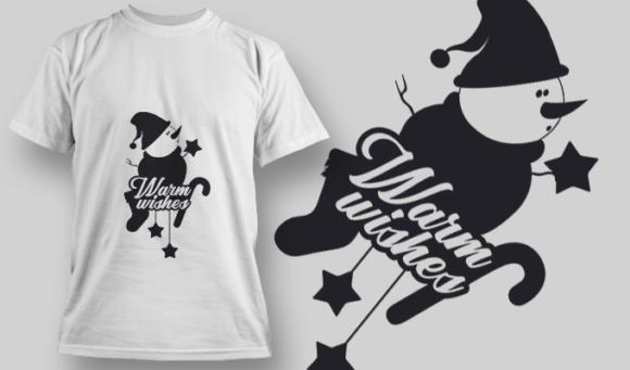 2297 Warm Wishes T-Shirt Design 1