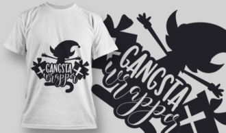 2301 Gangsta Wrapper T-Shirt Design T-shirt Designs and Templates vector