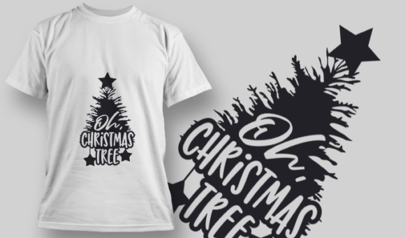 2318 Oh Christmas Tree T-Shirt Design T-shirt Designs and Templates star