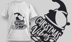 Christmas Vibes FREE T-Shirt Design 2321 Freebies vector