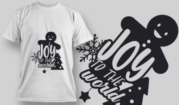 2325 Joy To The World T-Shirt Design T-shirt Designs and Templates tree