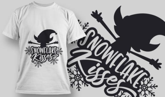 2329 Snowflake Kisses T-Shirt Design T-shirt Designs and Templates vector