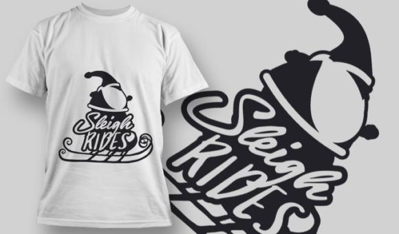 2332 Sleigh Rides T-Shirt Design T-shirt Designs and Templates vector
