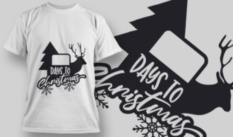 2335 Days To Christmas T-Shirt Design T-shirt Designs and Templates tree