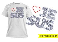 Love Jesus Editable design template