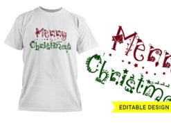 Merry Christmas Design Template T-shirt designs and templates christmas