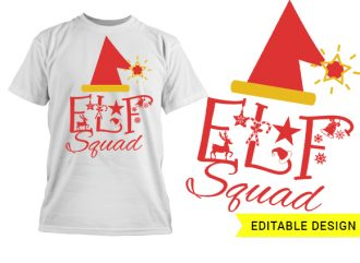 Elf Squad Design Template T-shirt Designs and Templates christmas